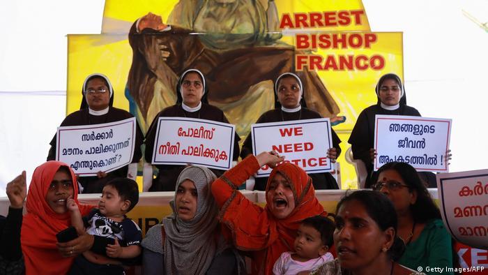 Indien Protest Bischoff Franco Mulakkal