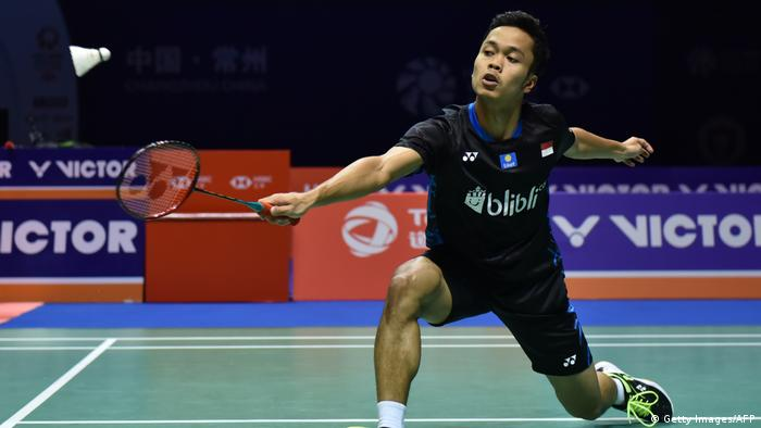 Badminton Anthony Sinisuka Ginting aus Indonesien (Getty Images/AFP)