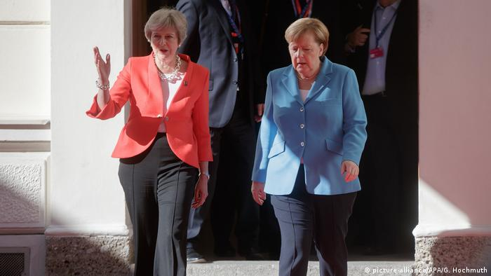 Salzburg: Merkel and May