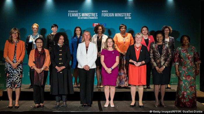 Group picture of women ministers meeting in Montreal, Canada