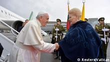 Litauen Präsidentin Dalia Grybauskaite und Papst Franziskus
