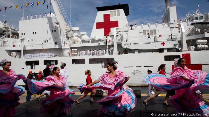 Chinese army medical vessel docked in Venezuela (picture-alliance/AP Photo/A. Cubillos)