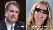 Brett Kavanaugh und Christine Blasey Ford (Foto: picture-alliance/dpa/CNP/R. Sachs/ZUMA Press/ResearchGate.net)