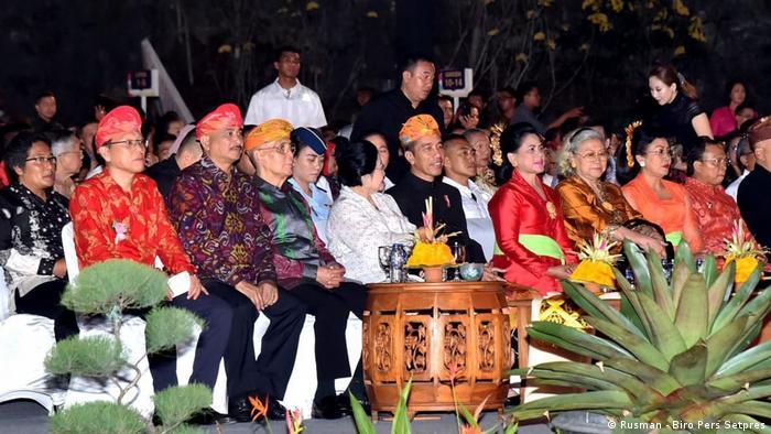 Indonesien Einweihungszeremonie von Garuda Wisnu Kencana in Bali (Rusman - Biro Pers Setpres)