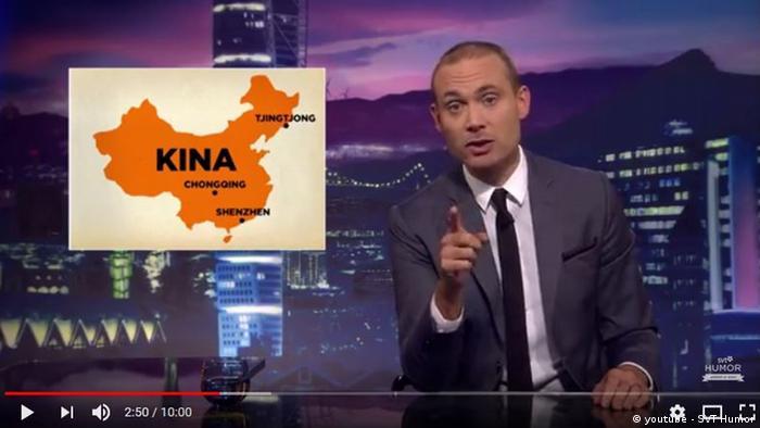 Screenshot Youtube | Satire aus Schweden - Thema China