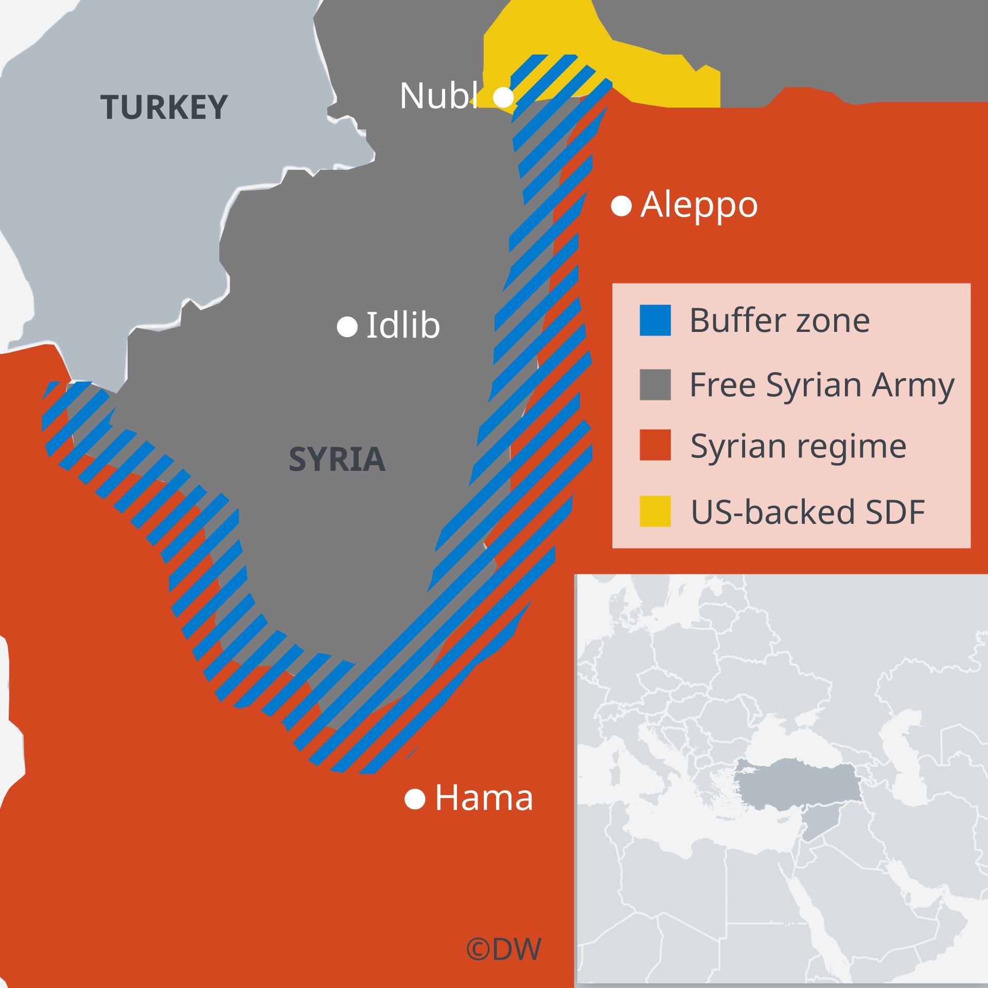 Map showing the buffer zone EN