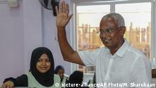 Malediven Ibrahim Mohamed Solih, Präsidentschaftskandidat (picture-alliance/AP Photo/M. Sharuhaan)