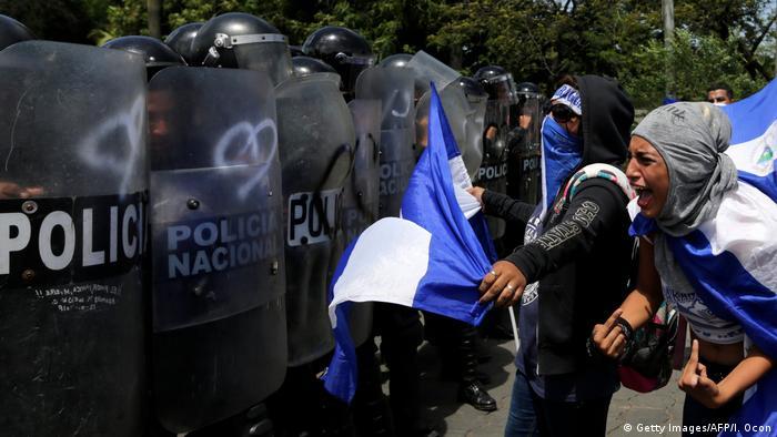 Nicaragua Managua Proteste gegen die Regierung (Getty Images/AFP/I. Ocon)