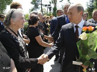 Putin greeting residents of the capital