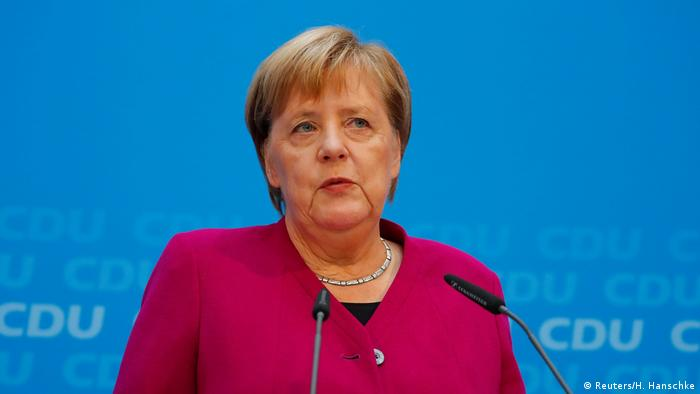Канцлер ФРГ Ангела Меркель в Берлине
