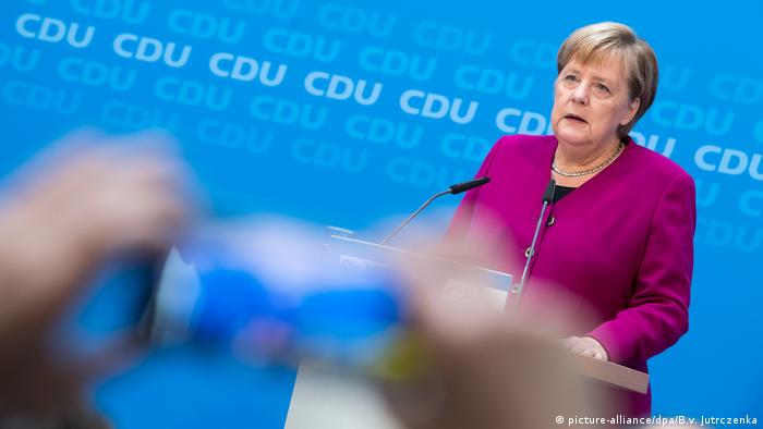 Deutschland Angela Merkel, Bundeskanzlerin | PK zu Maaßen