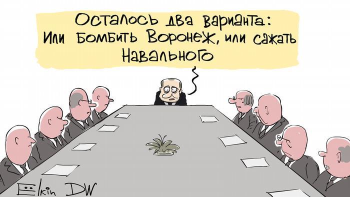 Карикатурист Сергей Елкин - о причинах задержания Алексея Навального