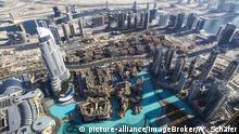 Vereinigte Arabische Emirate Blick von der Burj Khalifa auf die Dubai Mall
