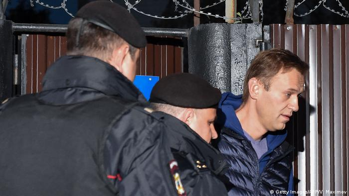 Police rearrest Navalny (Getty Images/AFP/V. Maximov)