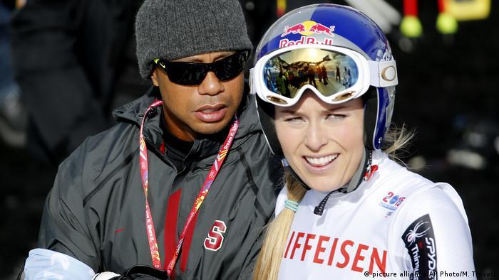 BG Sport Tiger Woods - mit Lindsey Vonn (picture alliance/AP Photo/M. Trovati)
