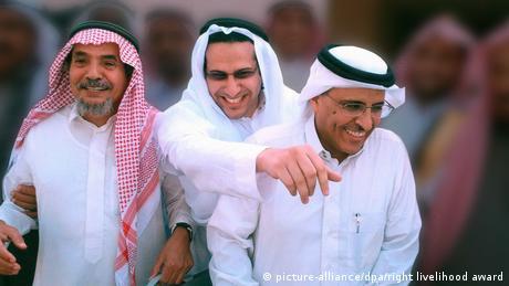 Right Livelihood Preisträger | Abdullah al-Hamid, Walid Abu al-Chair und Mohammed Fahad al-Kahtani (picture-alliance/dpa/right livelihood award)