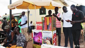 Prepaid card sale in Tamale, Ghana