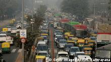Indien Verkehr in Neu Delhi