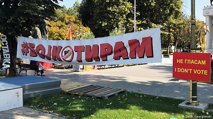 Mazedonien vor dem Referendum über Namensänderung (DW/B. Georgievski)