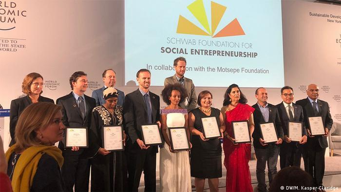 USA World Economic Forum NY - Preisverleihung Social Entrepreneur 2018 in New York   Preisträger