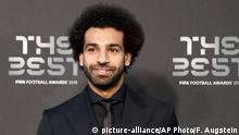 Fußball The Best Fifa Award 2018 in London l Mohamed Salah (picture-alliance/AP Photo/F. Augstein)