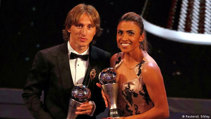 FIFA The Best Wahl | Luka Modric und Marta (Reuters/J. Sibley)