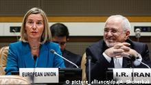 USA P5+1 Gespräche in New York über den Atom-Abkommen mit dem Iran | Mogherini und Zarif