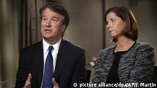 Brett und Ashley Kavanaugh während des Interviews mit Fox News(picture alliance/dpa/AP/J. Martin)