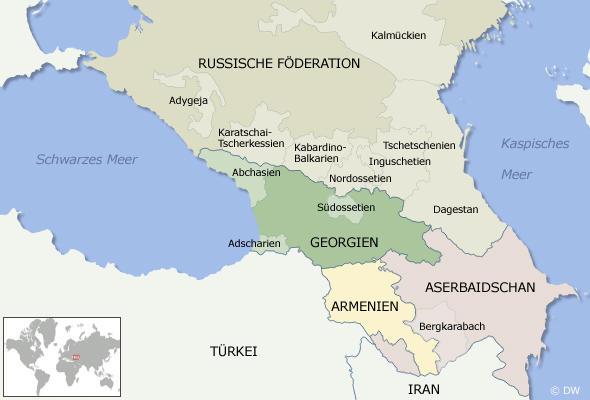 Карта кавказского региона