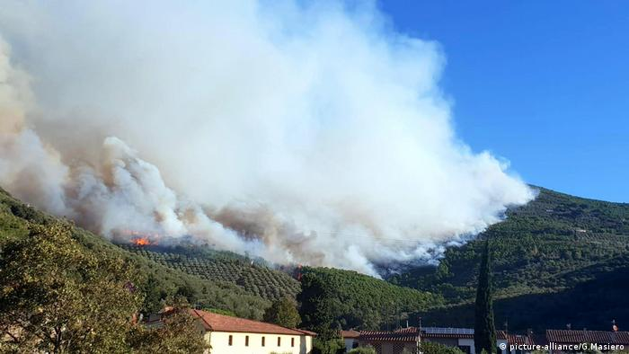 Wildfire prompts evacuations in Tuscany