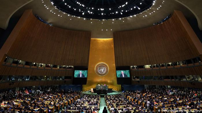 UN Versammlung Antonio Guterres (Getty Images/AFP/T. A. Clary)