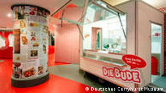 A cuurywurst stand in the museum
