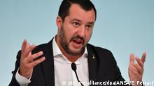 Italien Rom - MatteoSalvini - italienischer Innenminister