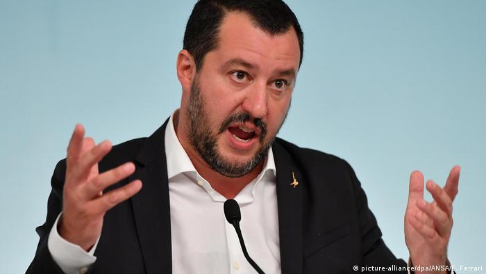 Italien Rom - MatteoSalvini - italienischer Innenminister (picture-alliance/dpa/ANSA/E. Ferrari)