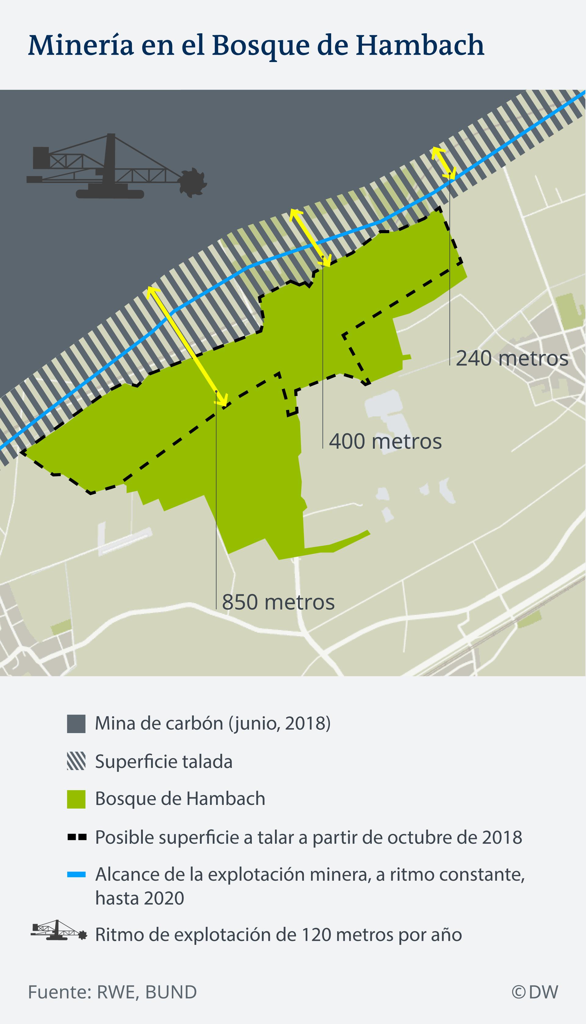 Infografik Karte Hambacher Forst Braunkohle Rohdung ES