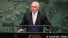 UN-Generalversammlung in New York | Michel Temer, Präsident Brasilien