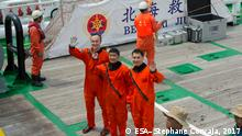 Title Sea survival training China Released 21/08/2017 4:03 pm Copyright ESA–Stephane Corvaja, 2017 Description ESA astronaut Matthias Maurer joined Chinese colleagues in Yantai, China to take part in their sea survival training, on 19 August 2017. Returning from space in a Chinese capsule, astronauts need to be prepared for any eventuality – including landing in the sea. Water survival is a staple of all astronaut training but this is the first time non-Chinese astronauts have taken part. Id 382719