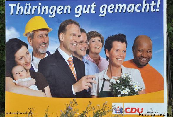 A CDU election poster from 2009 showing Zeca Schall and other candidates (picture-alliance/ dpa)