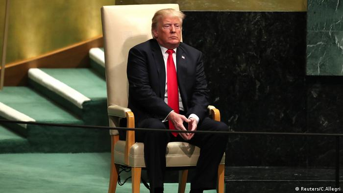 Trump at the UN in New York (Reuters/C.Allegri)