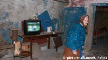 Ukraine, 86-jährige lebt im Luftschutzbunker