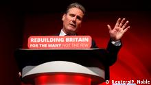 Britain's shadow Secretary of State for Exiting the European Union Keir Starmer delivers his keynote address at the annual Labour Party Conference in Liverpool, Britain, September 25, 2018. REUTERS/Phil Noble