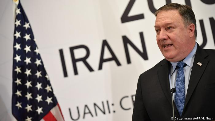 US Secretary of State Mike Pompeo speaks at the United Against Nuclear Iran Summit