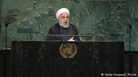 USA UN-Vollversammlung | Hassan Rohani (Getty Images/J. Moore)