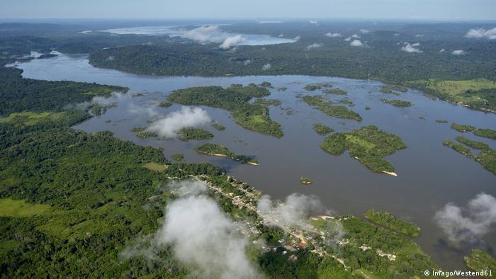 The Tabajos River in Para State, Brazil, from above