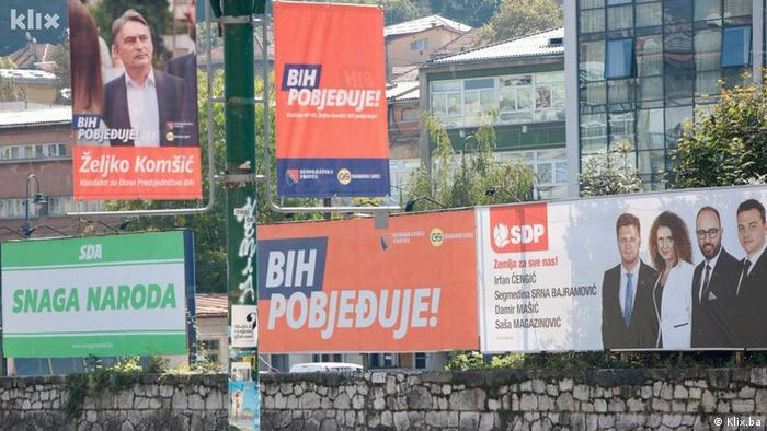 Bosnian election posters