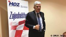 Bosnien und Herzegowina - Dragan Covic, Vertreter der Kroaten Vera Soldo/DW Korrespondentin aus Mostar Wann wurde das Bild gemacht?: September 2018 Wo wurde das Bild aufgenommen? Mosta