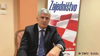 Bosnien und Herzegowina | Dragan Covic, Vertreter der Kroaten in B&H (DW/V. Soldo)