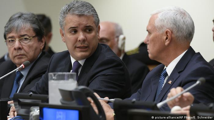 Generalversammlung der Vereinten Nationen Kolumbien und Vereinigte Staaten (picture-alliance/AP Photo/E. Schneider)