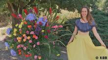 (© RBB ) Stichwort: Blumenkünstlerin Bilder aus der DW-Sendung Euromaxx