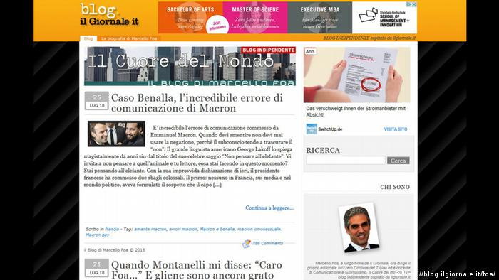 Screenshot Blog von Marcello Foa (http://blog.ilgiornale.it/foa/)